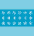 set of snowflakes winter flat decorative elements vector image