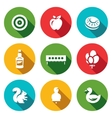 Set of Target Icons Archery Apple Plate vector image vector image