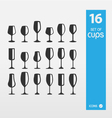 Set of Vine Cups vector image vector image