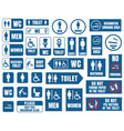 toilet signs icons set wc signs