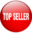 top seller red round gel isolated push button vector image vector image