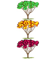 Tree in three different colors vector image vector image