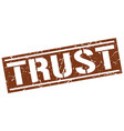 trust square grunge stamp vector image vector image