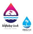 waterdrop beach logo icon vector image
