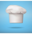 White chef cap toque vector image