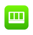 white window frame icon digital green vector image