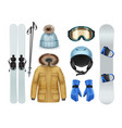 winter sports stuff vector image