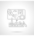 Plant cultivation detail line icon vector image