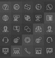 customer support icons - support service vector image
