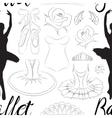 Hand drawn Ballet pattern vector image