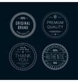 Vintage badges White vector image