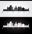 albany usa skyline and landmarks silhouette vector image vector image
