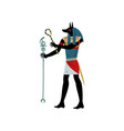 anubis god death symbol ancient egyptian vector image