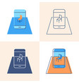 augmented reality concept icon set in flat and vector image vector image