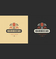 barbecue logo grill house or vector image vector image
