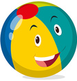 Beach ball with happy face vector image vector image
