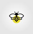 bee logo line art in black color vintage design vector image vector image