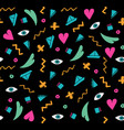 black doodle seamless pattern vector image