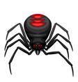 black widow spider icon vector image vector image
