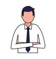 business man portrait vector image