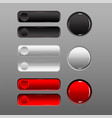button set red black white add prominence vector image vector image