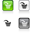 Buy button vector image vector image