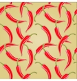chili pepper background vector image vector image