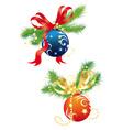 christmas balls 2 vector image vector image