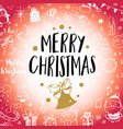 christmas post card with doodles big set of vector image vector image