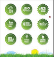 collection organic bio natural labels vector image vector image