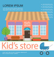 colorful kids store poster vector image vector image