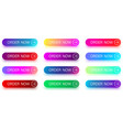 colorful order now icons with arrow isolated on vector image vector image