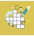 Crossword puzzle vector image vector image