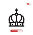 crown icon kingluxury symbol vector image