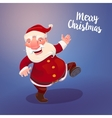 Cute Santa on vintage blue backdrop vector image vector image