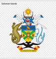 emblem of solomon islands vector image vector image