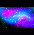 fantastic night starry sky with glowing stars vector image vector image
