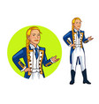 female royal navy officer cartoon vector image vector image