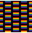Gay flag seamless pattern vector image vector image