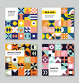 geometrical forms neo geo style abstract vector image