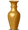golden shiny vase vector image vector image