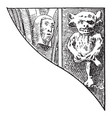 gothic architecture ornament statue imp faces vector image vector image