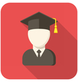 Graduate icon vector image vector image