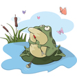 Green big frog Cartoon vector image vector image
