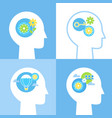 growth mindset empathy collaboration and vector image vector image