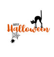 Happy halloween party title logo template spider