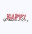 happy valentine s day pink glitter greeting card vector image vector image