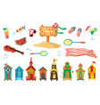 holidays on the beach objects set vector image vector image