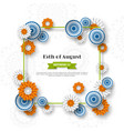indian independence day holiday design 3d wheels vector image vector image