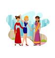 international visit color vector image